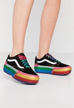 Vans - OLD SKOOL STACKED - Baskets basses - black/rainbow