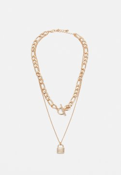 Lindex - NECKLACE TWO LAYER CHAIN AND LOCK - Ketting - gold-coloured