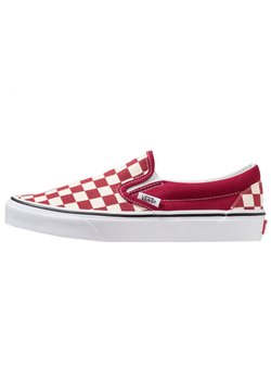 Vans - CLASSIC SLIP-ON  - Loaferit/pistokkaat - rumba red/true white