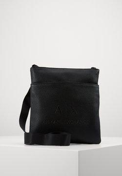 Armani Exchange - SMALL FLAT CROSSBODY BAG - Sac bandoulière - black/gunmetal