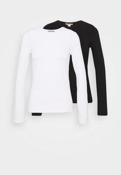 Anna Field - 2 PACK - Pitkähihainen paita - white/black