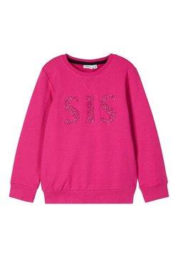 Name it - RUNDHALSAUSSCHNITT - Sweater - very berry