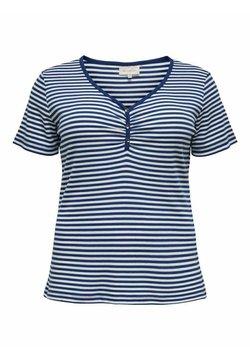 ONLY Carmakoma - T-Shirt print - mazarine blue