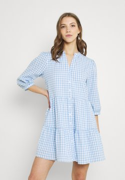 Forever New - GINA GINGHAM SMOCK DRESS - Blusenkleid - pale blue