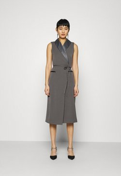 Who What Wear - TUXEDO WRAP DRESS - Cocktail dress / Party dress - slate