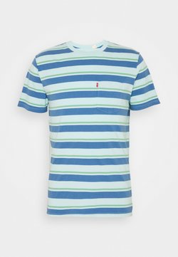 Levi's® - SUNSET POCKET - Print T-shirt - blue