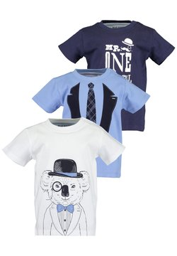Blue Seven - MINI KN T-SHIRT, RH - 3ER PACK - T-shirt print - off-white