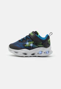 Skechers - VORTEX FLASH - Sneaker low - black/blue/lime