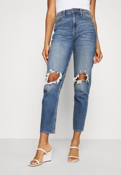 Hollister Co. - KNEEBO UHR MOM - Jeans Relaxed Fit - destroyed denim