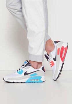 Nike Sportswear - AIR MAX 90 - Matalavartiset tennarit - white/iron grey/chlorine blue