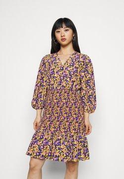YAS Petite - YASSORI SMOCK DRESS - Vestido informal - black/olive