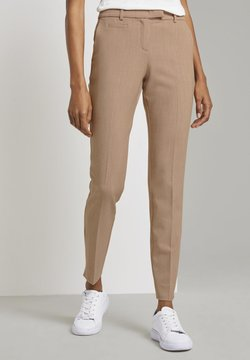 mine to five TOM TAILOR - MIT BUNDFALTEN - Chino - camel melange