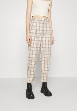 Monki - TYRA TROUSERS - Stoffhose - mini grid