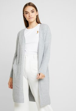 Vero Moda - VMDOFFY LONG OPEN CARDIGAN - Kardigan - light grey melange