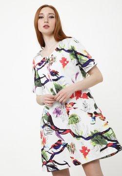 Madam-T - LAURA - Freizeitkleid - weiß lila