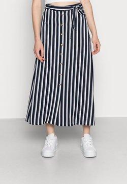 Vero Moda - VMSASHA ANCLE SKIRT NOOS - A-Linien-Rock - navy blazer/snow white coco