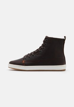 HUB - BASE - Ankle boots - dark brown/offwhite