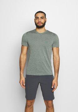 Salomon - EXPLORE TEE - T-Shirt print - balsam green