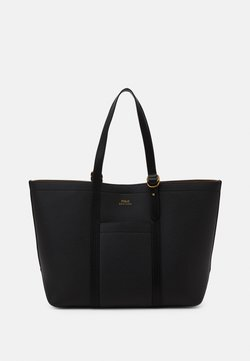 Polo Ralph Lauren - PEBBLED CLASSIC TOTE - Shopping Bag - black