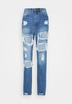 Missguided Tall - RIOT HIGH RISE RIPPED  - Jeans Relaxed Fit - blue