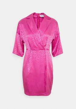 Closet - CLOSET WRAP MINI PENCIL DRESS - Cocktailkleid/festliches Kleid - pink