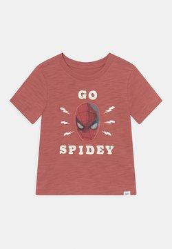 GAP - TODDLER BOY HOLO - Camiseta estampada - earthenware red