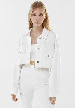 Bershka - Veste en jean - white