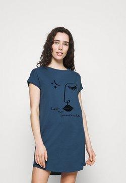 Hunkemöller - NIGHTIE CAPS NECK - Nachthemd - insignia blue