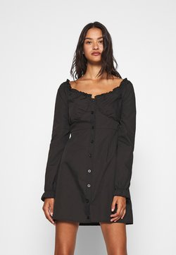 Missguided - MILKMAID DRESS  - Day dress - black