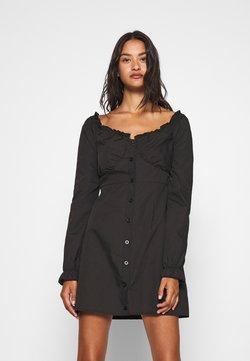 Missguided - MILKMAID DRESS  - Freizeitkleid - black