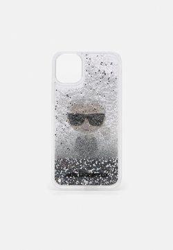 KARL LAGERFELD - IKONIK GLITTER CASE IPHONE 11 - Kännykkäpussi - transparent