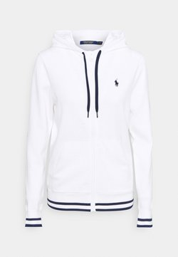 Polo Ralph Lauren Golf - FULL ZIP LONG SLEEVE - Sweatjacke - pure white/french navy