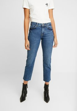 Pieces - PCHOLLY STRAIGHT  - Straight leg jeans - blue denim