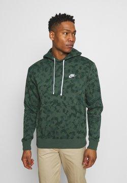 Nike Sportswear - CLUB HOODIE CAMO - Sweatshirt - galactic jade/white