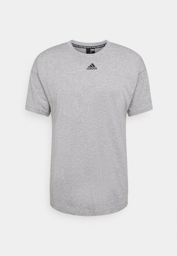 adidas Performance - TEE - T-shirt con stampa - medium grey heather