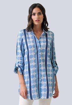 Alba Moda - Hemdbluse - marineblau,blau,weiß