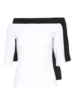 Even&Odd Petite - 2ER PACK  - Langarmshirt - white/black