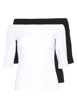Even&Odd Petite - 2ER PACK  - Maglietta a manica lunga - white/black