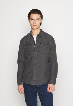 Lee - RIDER - Camicia - dark grey mele