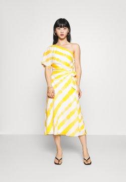Lauren Ralph Lauren Petite - SALARA - Sukienka koktajlowa - cream/summer lemon