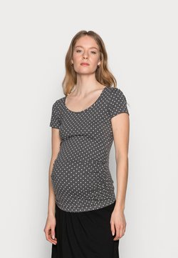 Anna Field MAMA - Camiseta estampada - white/grey