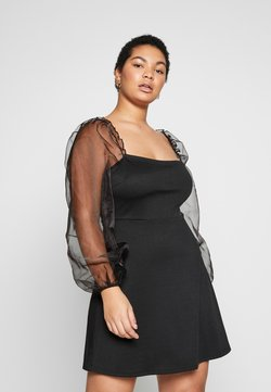 Missguided Plus - PUFF SLEEVE - Vestito elegante - black
