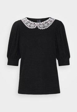 Vero Moda Tall - VMTAMIRA COLLAR - T-shirt imprimé - black/snow white