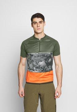 ION - TEE HALF ZIP TRAZE - T-Shirt print - root brown