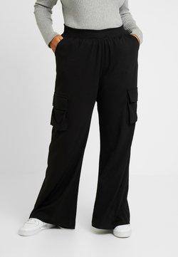 Missguided Plus - COMBAT WIDE LEG TROUSERS - Pantalon classique - black