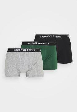 Urban Classics - BOXER SHORTS 3 PACK - Shorty - grey /darkgreen/black