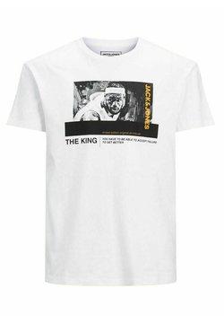 Jack & Jones Junior - JCOLEGENDS TEE SS CREW NECK JR - T-shirt con stampa - white