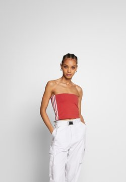 adidas Originals - 3STRIPES ADICOLOR TUBE - Top - lush red/white