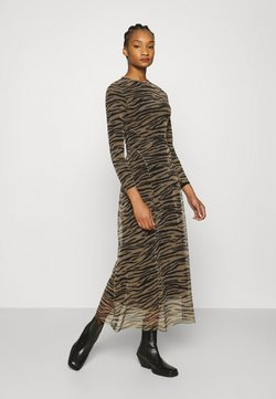 Calvin Klein Jeans - ZEBRA DRESS - Maxikleid - irish cream/black