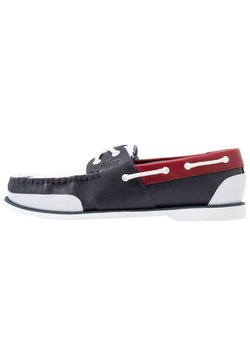 Lacoste - NAUTIC - Chaussures bateau - navy/white/dark red